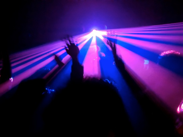 Lights, camera, action — revellers at Womb